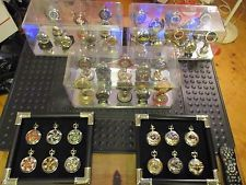 HUGE 39 Harley Davidson Franklin mint pocket watches Collectable collection lot