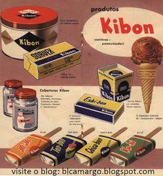 """ANOS DOURADOS: IMAGENS & FATOS: IMAGENS = ALIMENTO/BEBIDA - . Nos anos 50 aproveitou a nova mídia que chegava ao Brasil: divulgou seu produto no programa de grande audiência """"Sítio do Pica-Pau Amarelo"""" e patrocinou, sozinha, um outro chamado """"Grande Ginkana Kibon"""" (que permanceu no ar por muitos anos). ANÚNCIO DE 1955"""