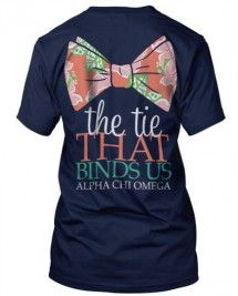 Alpha Chi Omega Bow Tie T-shirt