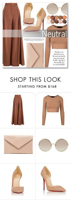 """""""Untitled #196"""" by enicanovi ❤ liked on Polyvore featuring Zimmermann, Alaïa, Marc Jacobs, Christian Louboutin and NYX"""