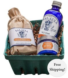 Stay Peachy Clean with a Salacia Salts gift set!