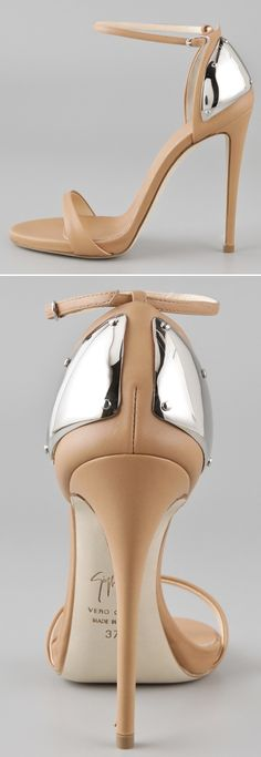 Giuseppe Zanotti Nude Sandals. Man I love these! So wish I were able to wear heels like this.