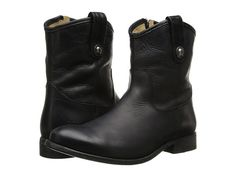Frye Melissa Button Short Black Washed Antique Pull Up - Zappos.com Free Shipping BOTH Ways