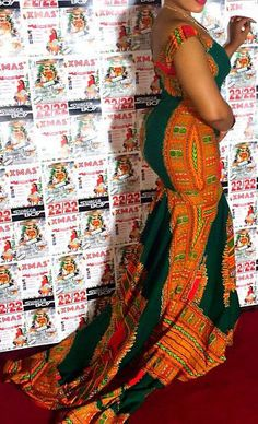 76349fab5e Roaso African Pattern Printing Mermaid Maxi Dress - ROASO - 2 Ethnic Print