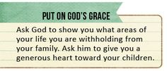 Tip for putting on God's grace (Ps. 145:8-9) by HiveResources.com
