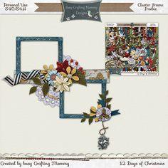 Scrapbooking TammyTags -- TT - Designer - Busy Crafting Mommy Designs, TT - Item - Frame, TT - Style - Cluster, TT - Theme - Christmas