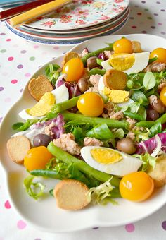 If you are looking for ideas for a super-fast, tasty and light lunch, the Nizzard salad . Yummy Food, Tasty, Yummy Yummy, Food Tags, Raw Vegetables, Salad Sandwich, Cobb Salad, Sweet Recipes, Salad Recipes