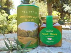 Greek All Natural & Organic Gift Set - With Raw Forest Honey & Koroneiki Extra Virgin Olive Oil by Melirrous on Gourmly Gourmet Gifts, Gourmet Recipes, Citrus Trees, Harvest Time, Raw Honey, Organic Oil, Unique Recipes, Olive Oil, Greek