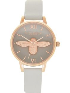 OLIVIA BURTON Moulded Bee Midi Dial Watch - Grey | veryexclusive.co.uk