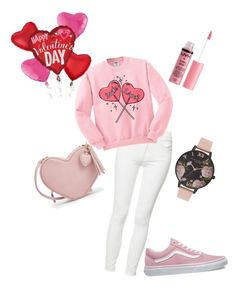 """""""💕Valentine's Day💕"""" by efisamioti12 on Polyvore featuring Mother, Vans, Charlotte Russe and Olivia Burton"""