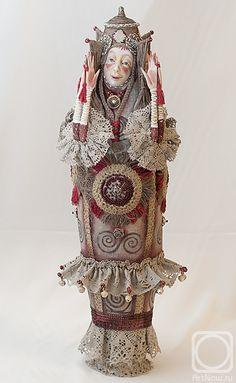 Solstice by Nadezhda Sokolova. Ooak Dolls, Art Dolls, Bjd, Unusual Art, Paperclay, Doll Maker, Russian Art, Silk Painting, Figurative Art