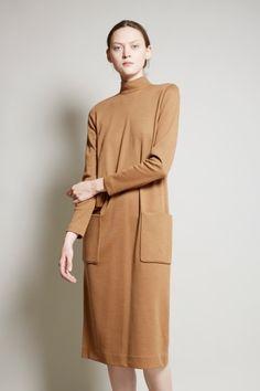 No.6 Martin Three Pocket Dress in Camel Double Knit