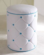 """25% Off  LILLY PULITZER HOME BLUE """"ELISE"""" OTTOMAN  Compare At: 799.00  Special Value:599."""