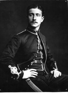 Louis Napoléon, Prince Imperial c. 1879, age 22.    The only child of Emperor Napoleon III and Eugénie, young Napoléon grew up in Britain after his father was overthrown in 1870.  He was intended to marry Queen Victoria's youngest daughter, Princess Beatrice, but he was killed in 1879 while serving in the British Army in the Anglo-Zulu War. When his body was recovered with 18 spear wounds and returned to his mother in London.