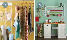 """Roundup: 10 Genius Gift Wrap Storage Solutions #[""""contemporary"""", """"Creative Reuse"""", """"organizing"""", """"Office & Workspace"""", """"How-To"""", """"Inspiration""""] Diy Wrapping Paper Storage, Gift Wrap Storage, Wrapping Ideas, Storage Shelves, Storage Spaces, Gift Wrapping, Gift Bag Organization, Organizing, Plastic Bag Dispenser"""