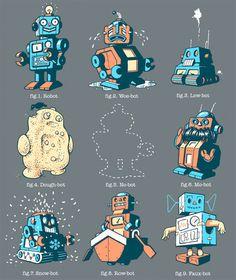 Robots....scrap book paper
