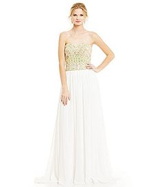 Glamour by Terani Couture Opaque Beaded Bodice Gown #Dillards