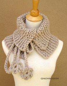 Josephine Cowl-Neck Warmer-Linen Golas Croche fcb02a0dc49