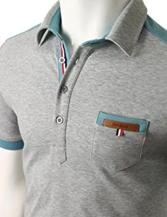 Doublju Mens back color blocked short sleeves polo shirts with pocket point Polo Shirt Outfits, Mens Polo T Shirts, Short Sleeve Polo Shirts, Shirt Sleeves, Polo Shirts With Pockets, Mens Back, Men Dress, Mens Fashion, Men's Sportswear
