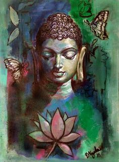 """No one and nothing can free you but your own understanding."" ~ Ajahn Chah, A Still Forest Pool: The Insight Meditation of Achaan Chah lis Gautama Buddha, Buddha Buddhism, Buddha Art, Buddha Drawing, Budha Painting, Ganesha Painting, Painting Art, Spiritual Paintings, Religious Paintings"