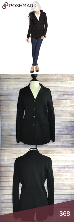 Ralph Lauren 4-button Closure Blazer Jacket Jacket is almost identical to stock photo of a very similar Ralph Lauren Jacket. Stock photo has 3 buttons and actual Jacket has a 4-button closure. 2 Front Pockets. 100% merino wool. Condition: Excellent; lightly worn. Lauren Ralph Lauren Jackets & Coats Blazers