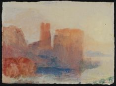 Artwork page for 'Coastal Terrain and Buildings, ?South of France or Italy', Joseph Mallord William Turner, Covent Garden, Wow Battle, Turner Watercolors, List Of Paintings, World Of Warcraft Gold, English Romantic, Joseph Mallord William Turner, South Of France, Landscape Paintings
