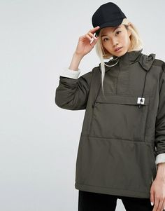Carhartt WIP | Carhartt WIP Justine Pullover Jacket With Half Zip & Fleece Lining