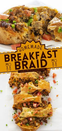 This Breakfast Braid is a delicious breakfast idea that is so easy to make! Savor the goodness of sausage, egg, and cheese locked inside that flaky braid of bread. It's the perfect back-to-school breakfast too!