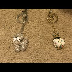 Jeweled Poodle and Lady Bug Keychain Will sell separately or together! Accessories Key & Card Holders