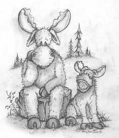 Colouring Pics, Animal Coloring Pages, Coloring Books, Adult Coloring, China Painting, Tole Painting, Moana Coloring, Moose Crafts, Moose Decor