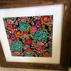 Looking for a new way to use your scrap fabrics? My mom found two old wooden frames from a department store that was closing down. I put in fabric and will be putting them up on the wall in the nursery. Im so in love with how they turned out.