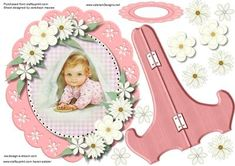 Beautiful Plate and Stand Birthday Girl  on Craftsuprint designed by Ceredwyn Macrae - A lovey card to make and give to any one with a lovely plate and stand with a lovely little girl has one greeting tag left blank for your choice if sentiment, - Now available for download!