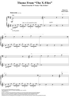 """Theme From """"The X-Files"""" Sheet Music: www.onlinesheetmusic.com"""