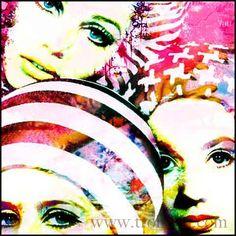 Mod Art Fashion Print, 1960s retro Fashion Art, Whimsical Art Print, Pink Fashion Decor