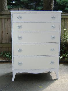 Beautiful  Vintage Shabby Chic Tall by seasidefurnitureshop, $250.00