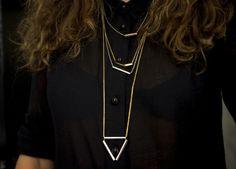DIY simple tube necklaces via sketch42