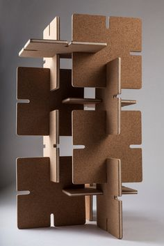 Granorte's cork fascinates London - Granorte's cork fascinates London Ensamblaje. Cardboard but could be foam board Cardboard Sculpture, Cardboard Furniture, Modular Furniture, Cardboard Crafts, Furniture Design, Cardboard Playhouse, Art Furniture, Cork, Karton Design