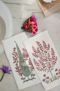 BLISSFUL BATH ESSENTIALS Our Fergana handblock printed waffle towels are ideal…
