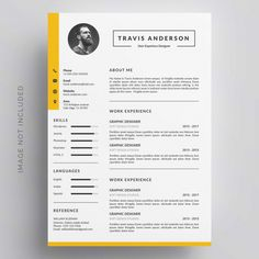 Curriculum vitae template with photo Creative Cv Template, Resume Design Template, Simple Cv Template, Conception Cv, Format Cv, Cv Curriculum Vitae, Curriculum Template, Cv Simple, Cv Inspiration