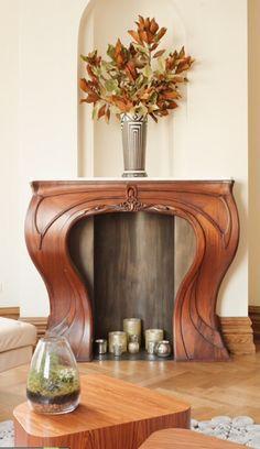Art Nouveau Design - Wooden Mantle
