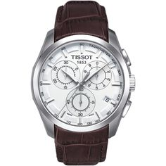 Tissot Couturier Steel & brown Chronograph with Date