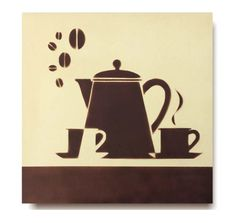Coffee Drawing, Coffee Painting, Coffee Room, Coffee Art, Decor Crafts, Diy And Crafts, Diy Tea Bags, Cafe Sign, Shadow Silhouette
