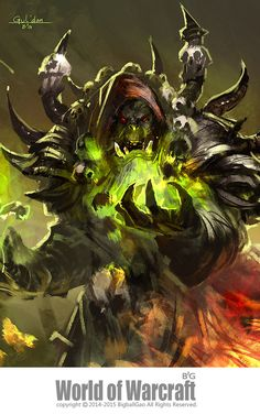 Illustration de Gao ZhiPing http://www.helpmedias.com/wow.php https://epiccarry.com