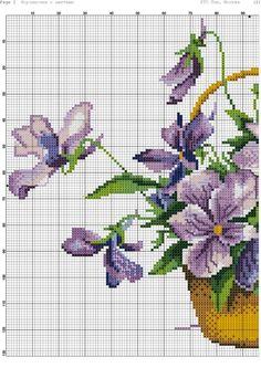 Basket with violets (1/2)