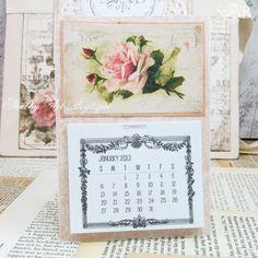 Shabby Art Boutique - vintage fridge Calendar download freebie