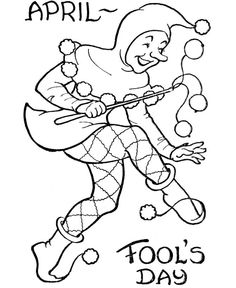 Coloring Page For April Fools Day Enjoy