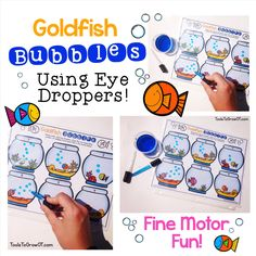 Fine Motor Eyedropper Activity. Children are very intrigued and motivated to use eyedroppers!