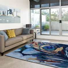 Peacock Painting Multi-Coloured Rugs buy online from the rug seller uk Interior Design Tips, Blue Rug, Buy Rugs, Painted Rug, Rugs, Contemporary House, Colorful Rugs, Interior Design, Contemporary Rug