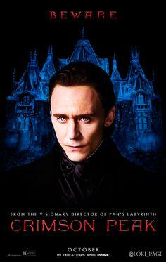 """@Loki_Page: 'Beware of Crimson Peak' #TomHiddleston""-Edit by Loki_Page. Tweet: https://twitter.com/Loki_Page/status/591506716719611904"