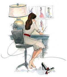 The Sketch Book – Inslee Haynes / Fashion Illustration by Inslee / Page 57 on we heart it / visual bookmark Illustration Sketches, Art Sketches, Art Drawings, Artist Bio, Fashion Art, Fashion Design, Pastel Fashion, Work Fashion, Fashion Trends